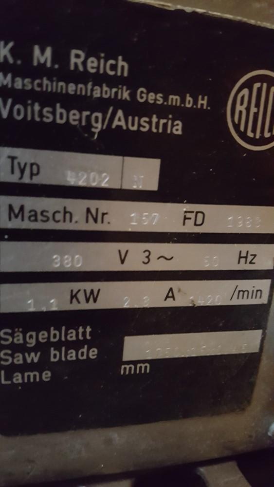 reich båndsav brugt bordmodel